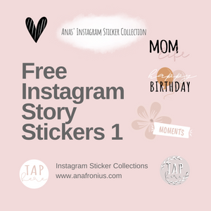 Free Instagram Story Stickers Pack 1