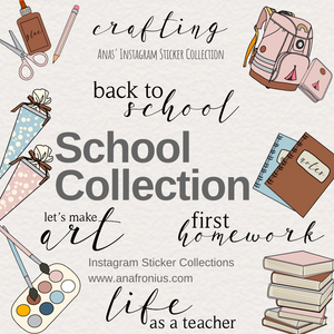 Instagram Story Stickers School Collection