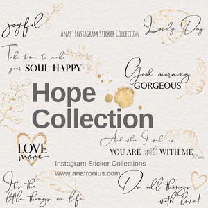 Instagram Story Stickers Hope Collection