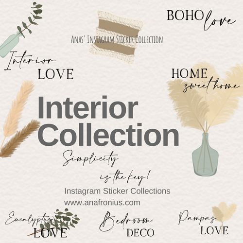 Instagram Story Stickers Interior Collection