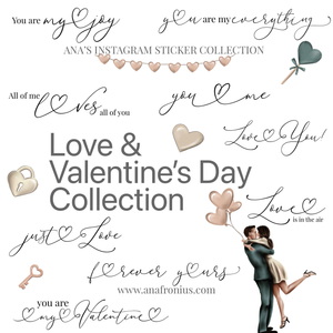 Instagram Story Stickers Love and Valentine's Day Collection