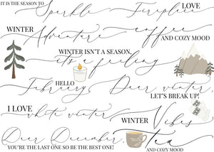 Story Stickers Winter Collection