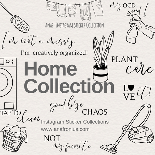 Instagram Story Stickers Home Collection
