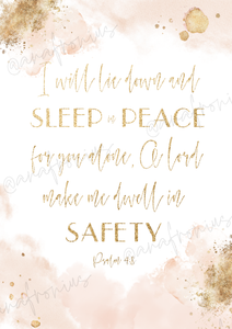 I will lie down and sleep in peace 1.2 Printable