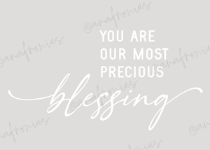 You Are Our Most Precious Blessing Boy Kids Printable