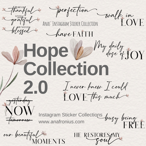 Instagram Story Stickers Hope Collection 2.0