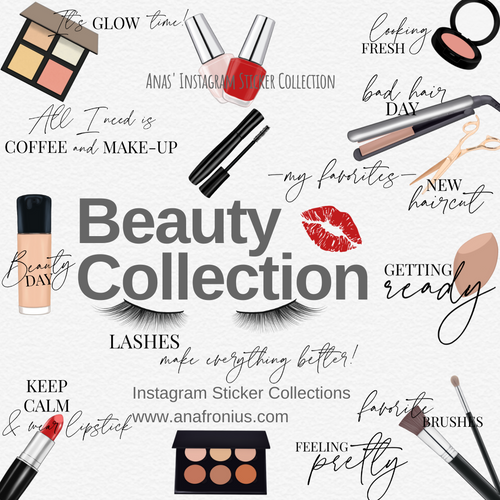 Beauty Collection Story Sticker Story Elements Cliparts