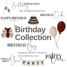 Load image into Gallery viewer, Instagram Story Stickers Birthday Collection