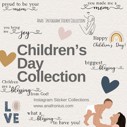 Instagram Story Stickers Children's Day Collection