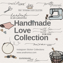 Load image into Gallery viewer, Instagram Story Stickers Handmade Love Collection