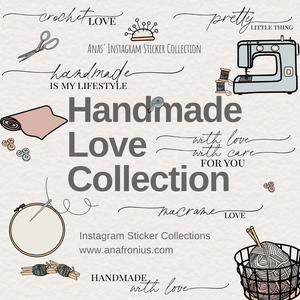 Instagram Story Stickers Handmade Love Collection