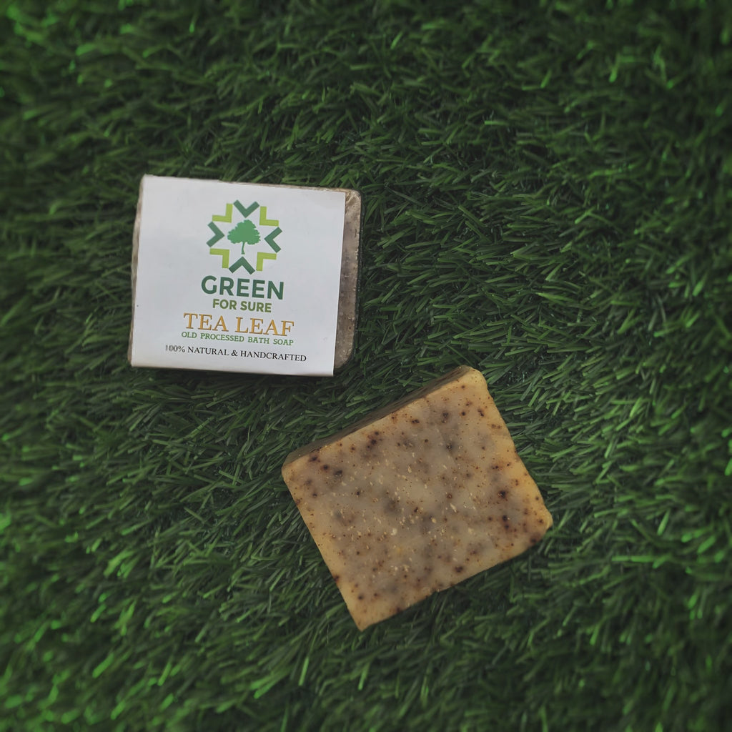 Tea Leaf - Exfoliating Cold Processed Soap (85 gms)