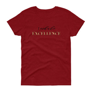 "Women's short sleeve crew neck t-shirt: ""I Exhale Excellence"""