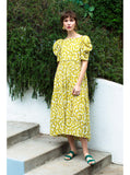 Aurora Dress | Yellow Ditsy Floral