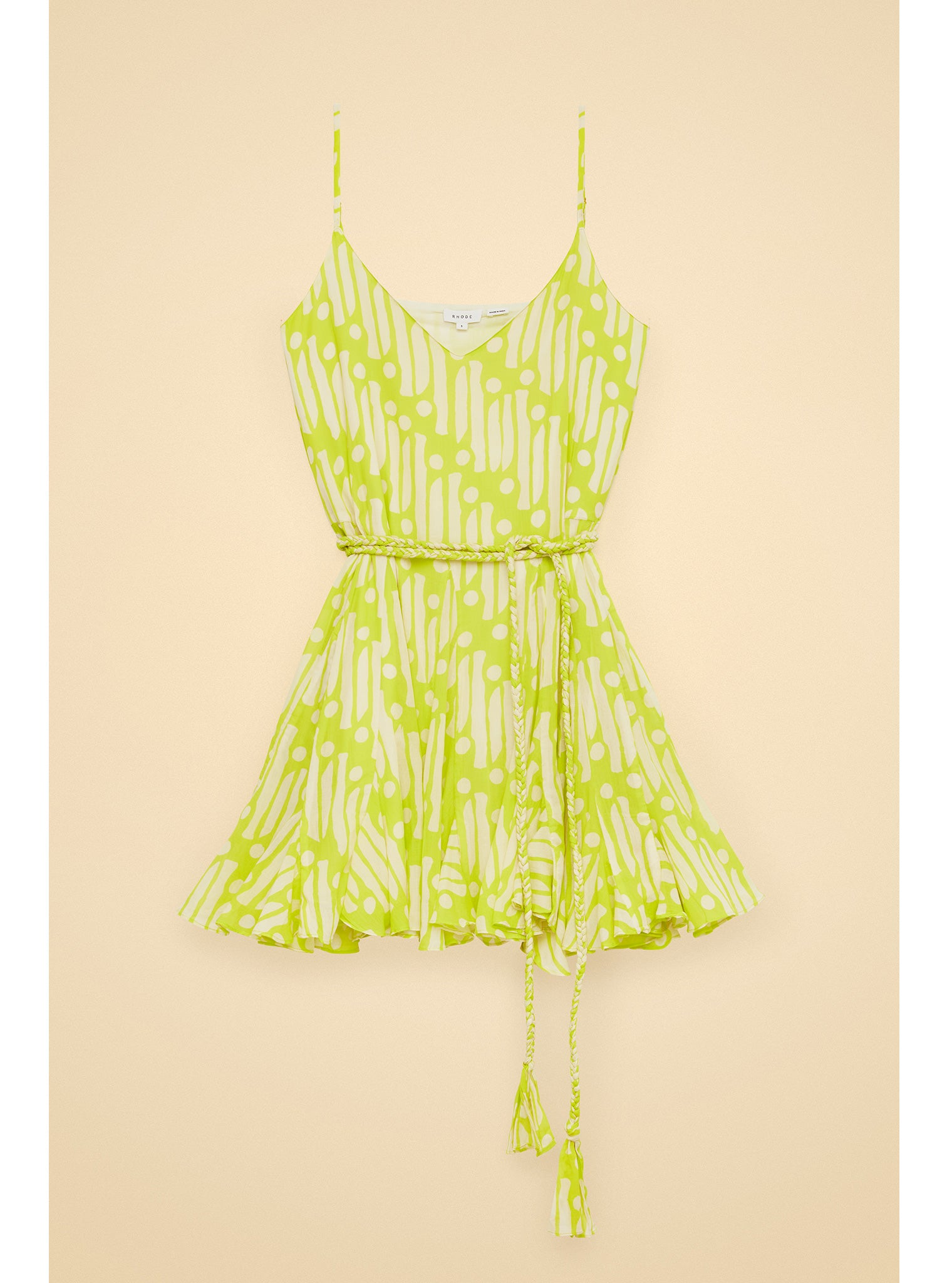 Casey Dress | Chartreuse Batik