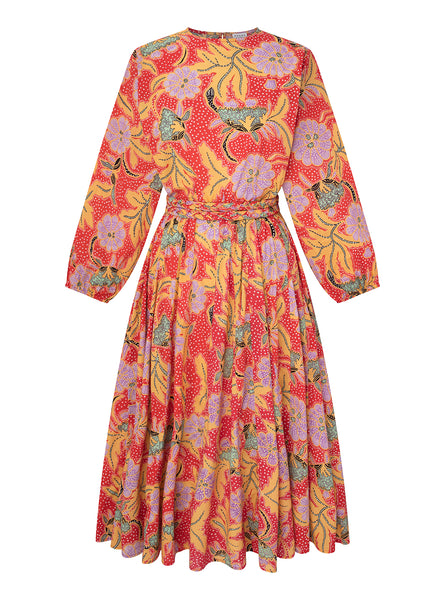 Devi Dress | Red Botanical