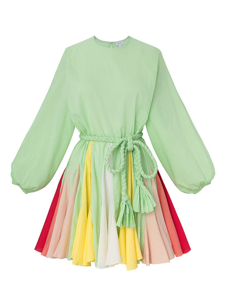 Ella Dress | Mint Colorblock
