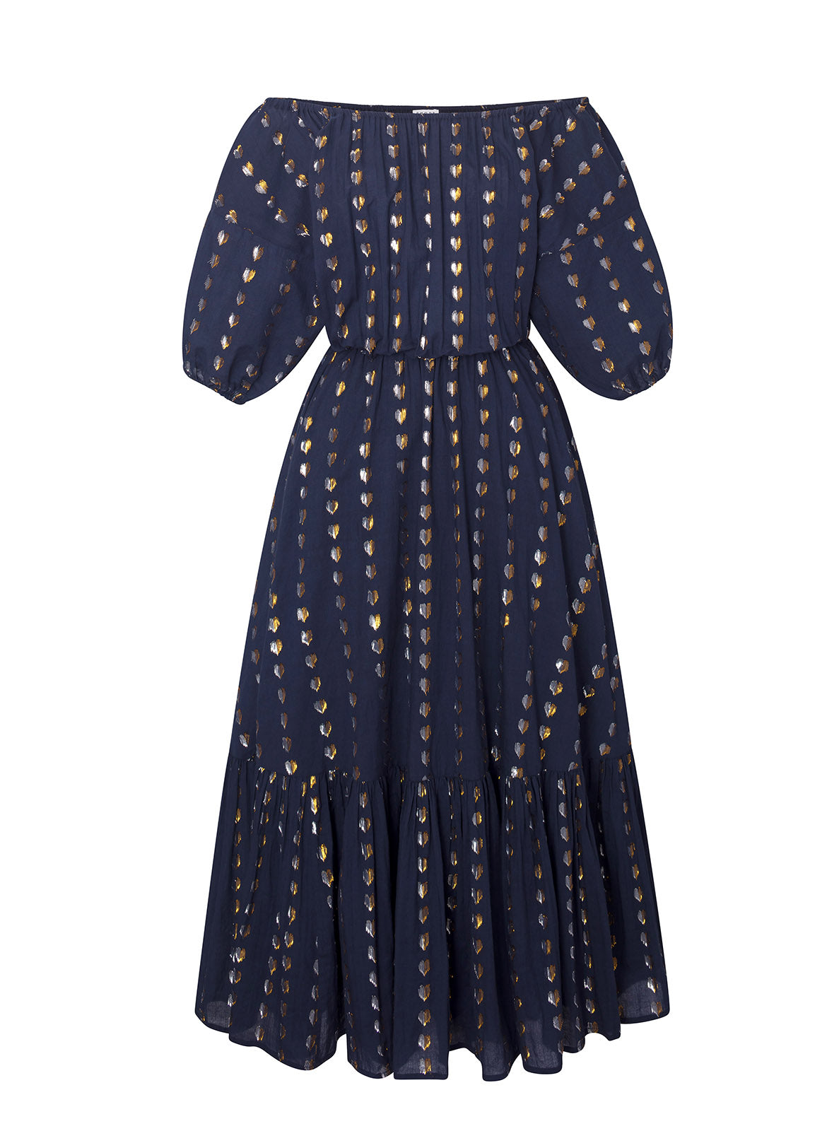 Frida Dress | Navy Metallic