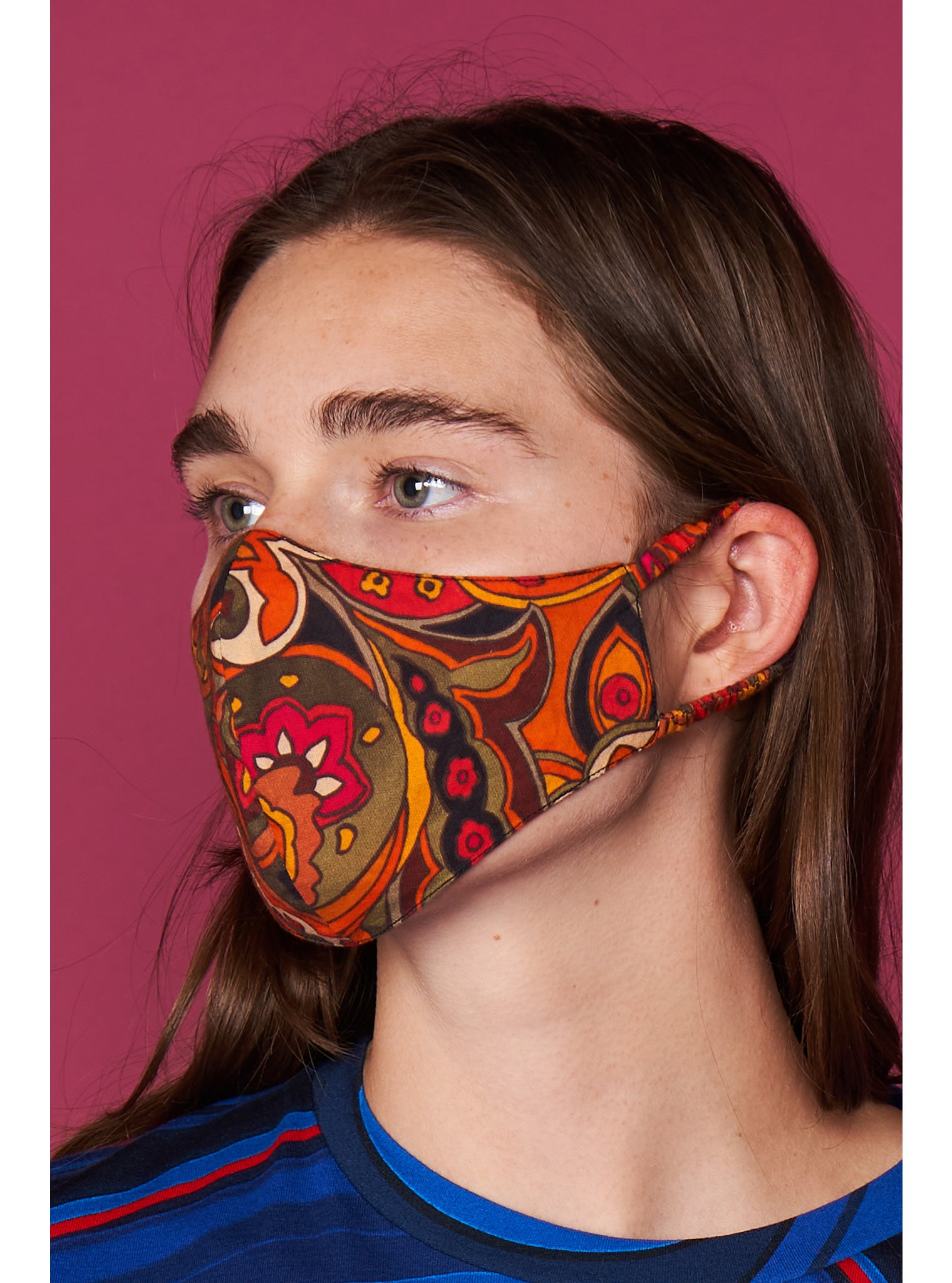 Mask | Retro Paisley Fire