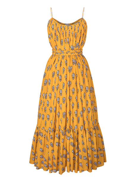 Lea Dress | Yellow Flower