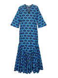 Rose Dress | Blue Ikat