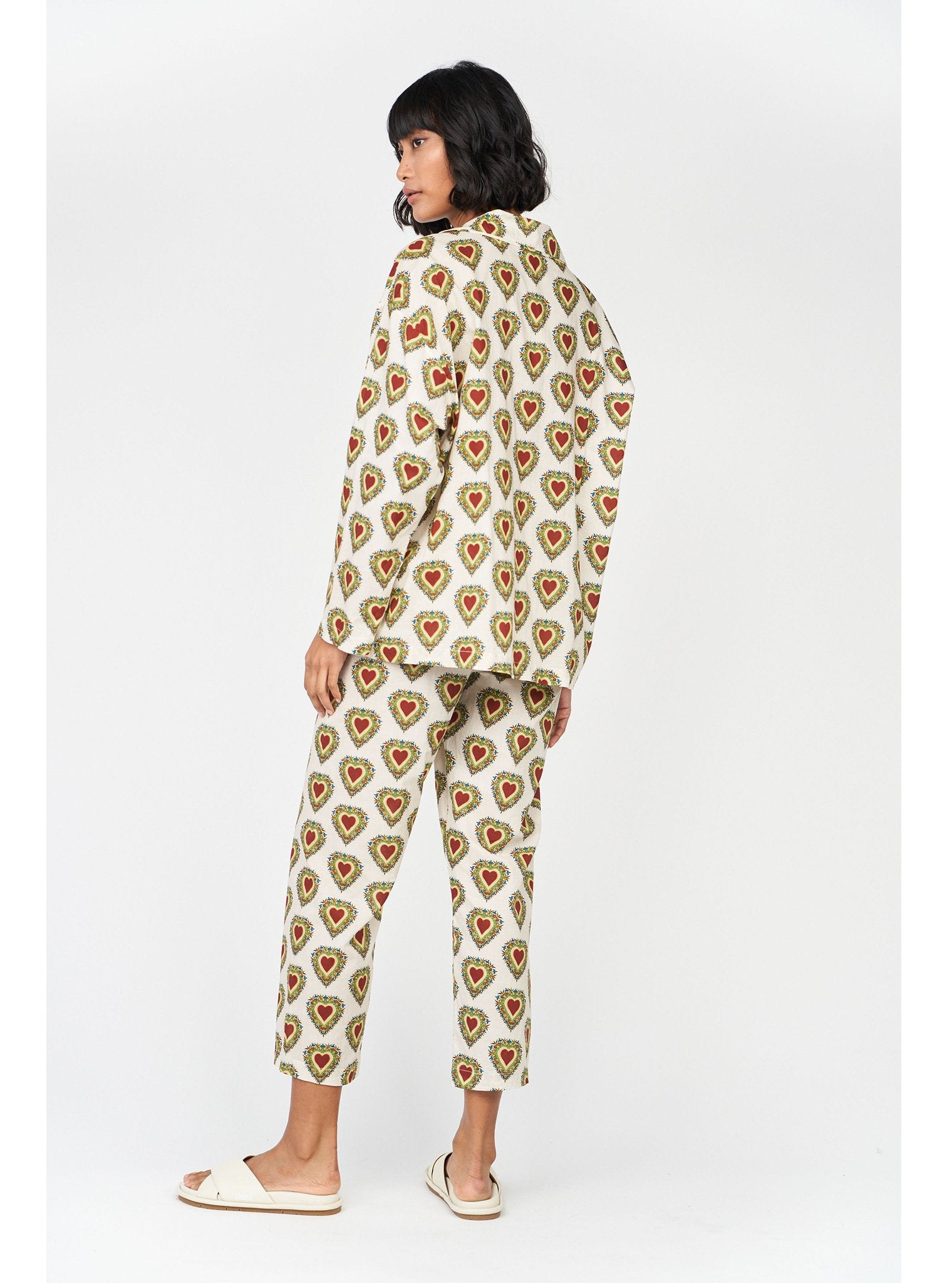 Berto Pajamas | Small Ivory Heart
