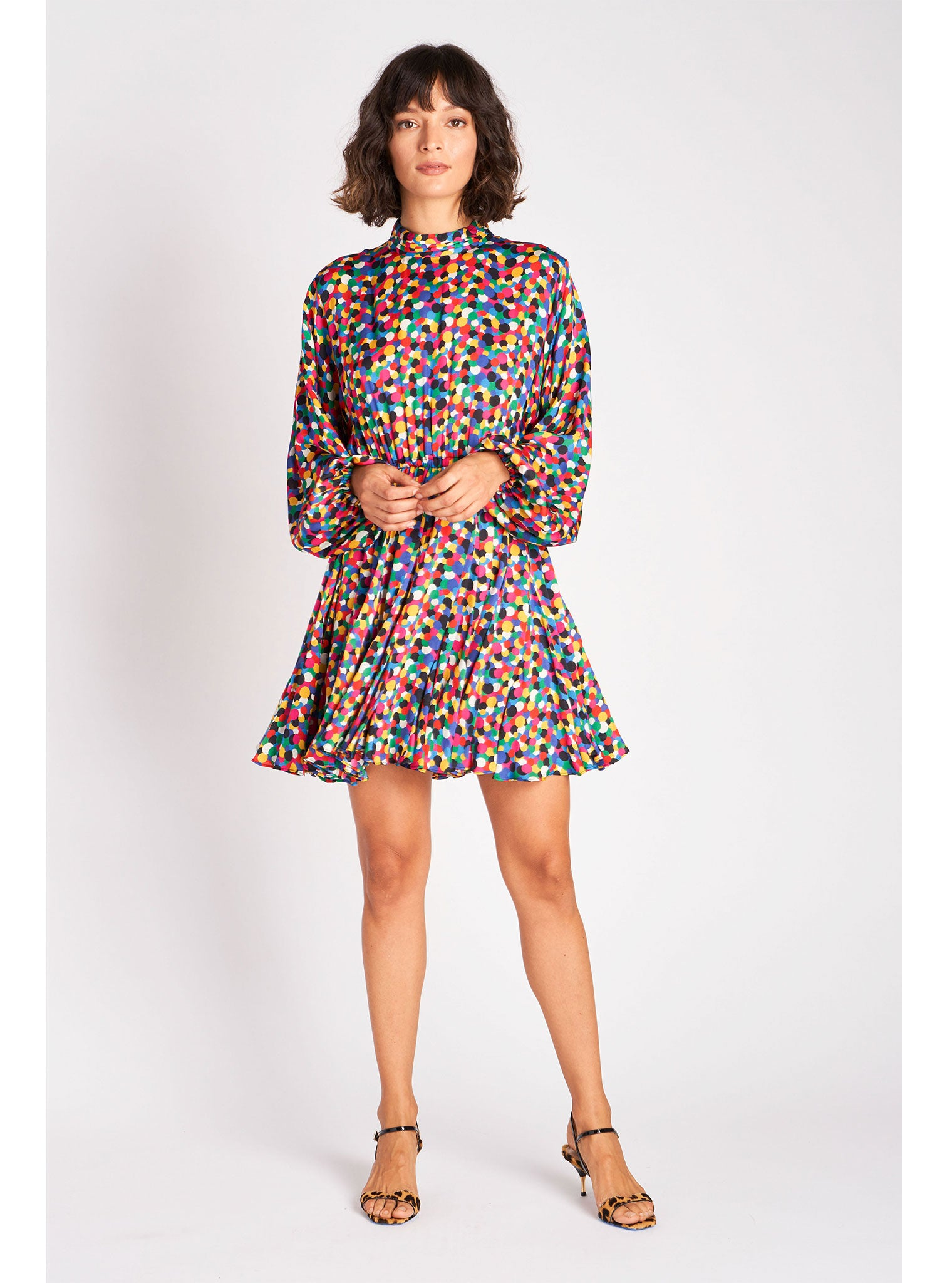 Caroline Dress | Micro Confetti