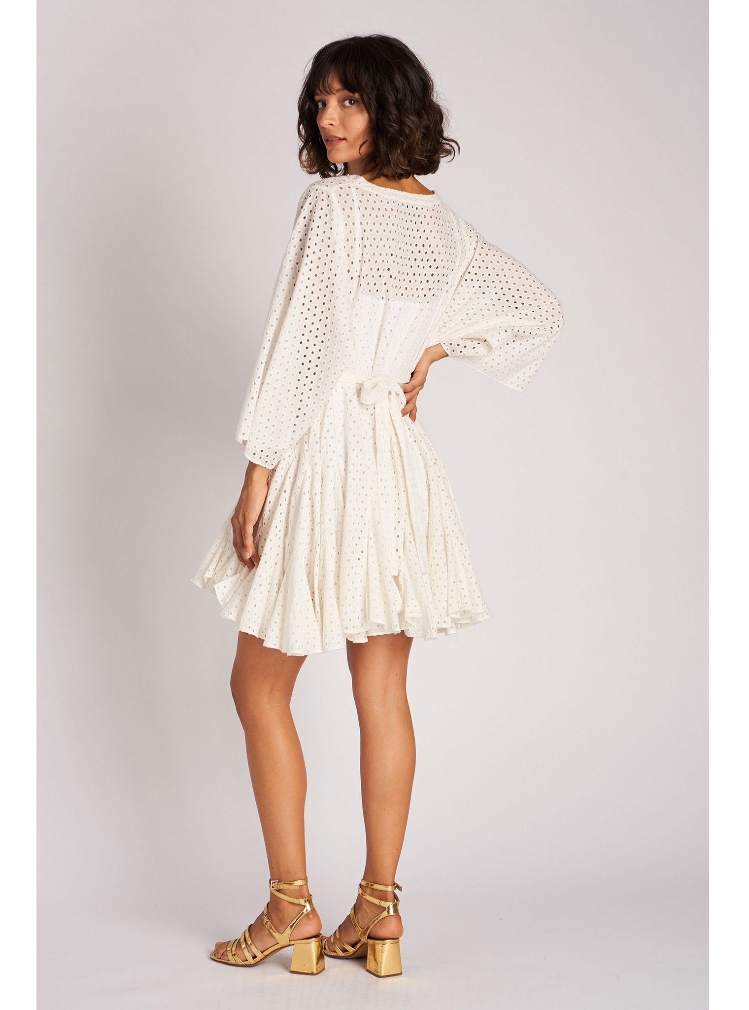 Ryan Dress | White Eyelet