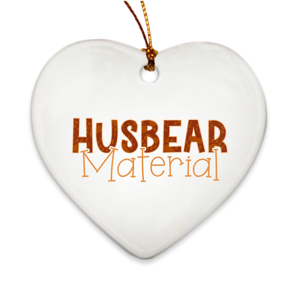 Husbear Material Christmas Ornaments - Bearified Gear