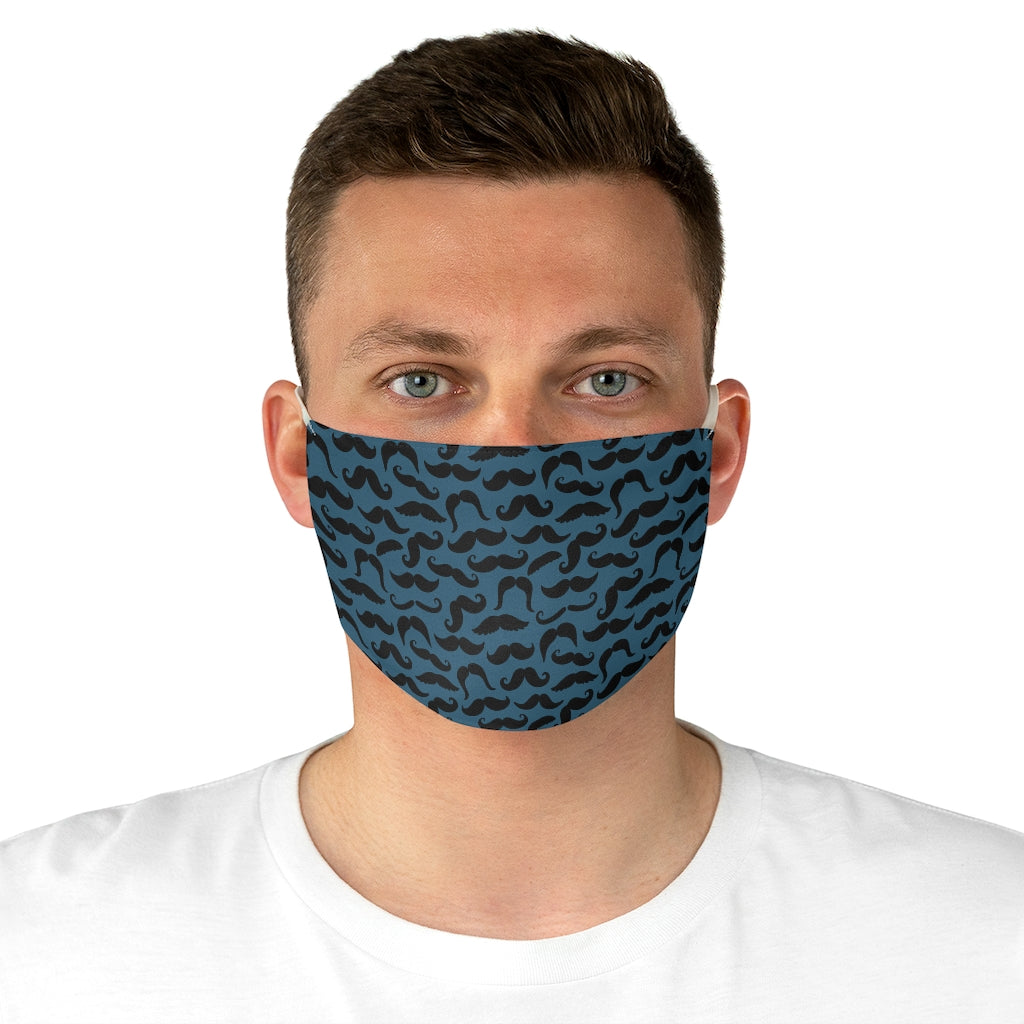 Mustache Print Fabric Face Mask - Bearified Gear