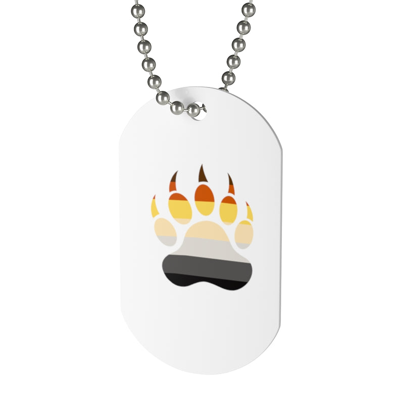 Pride Bear Paw Dog Tag - FREE Shipping - Bearified Gear