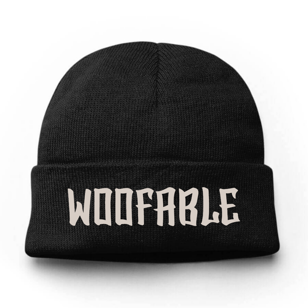 Woofable Embroidery Beanie Hat - Bearified Gear
