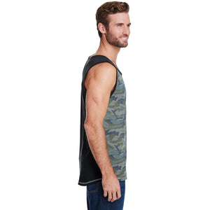 Woof Vintage Camouflage Tank Top - Bearified Gear
