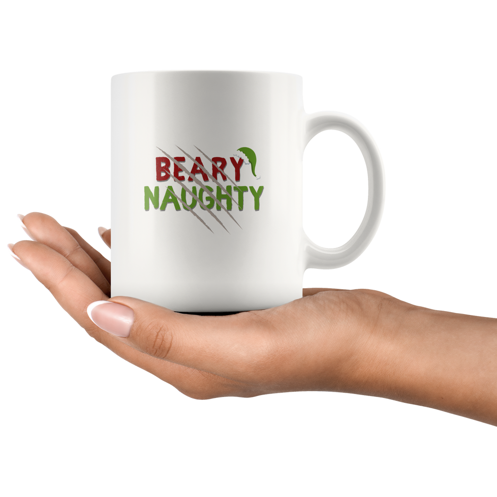 Beary Naughty Ceramic Christmas Mug - Bearified Gear