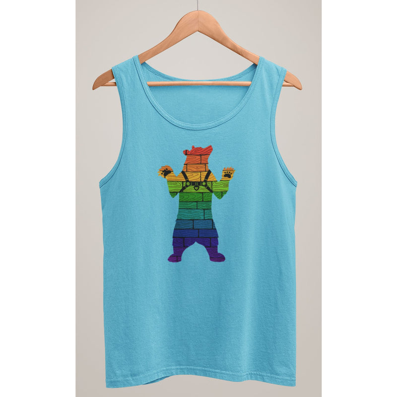 Gay Pride Bear Harness Tank Top - Bearified Gear