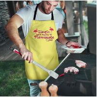 Single And Ready to Flamingle Adjustable Apron - FREE Shipping - Bearified Gear