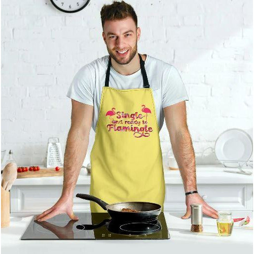 Single And Ready to Flamingle Adjustable Apron - Bearified Gear