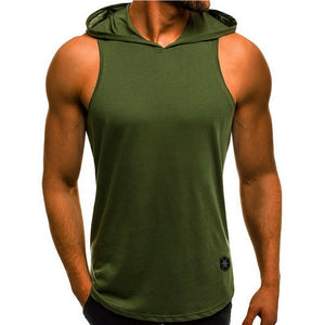 Hooded Sleeveless Workout Tank Top - Bearified Gear