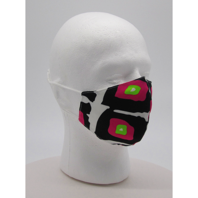 Abstract Squares Face Mask w/ PM2.5 Filters - Bearified Gear