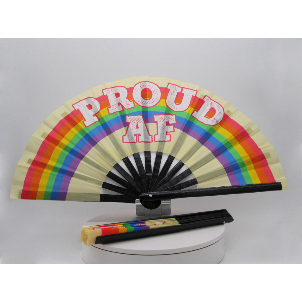 Proud AF Clacker Hand Fan - Bearified Gear