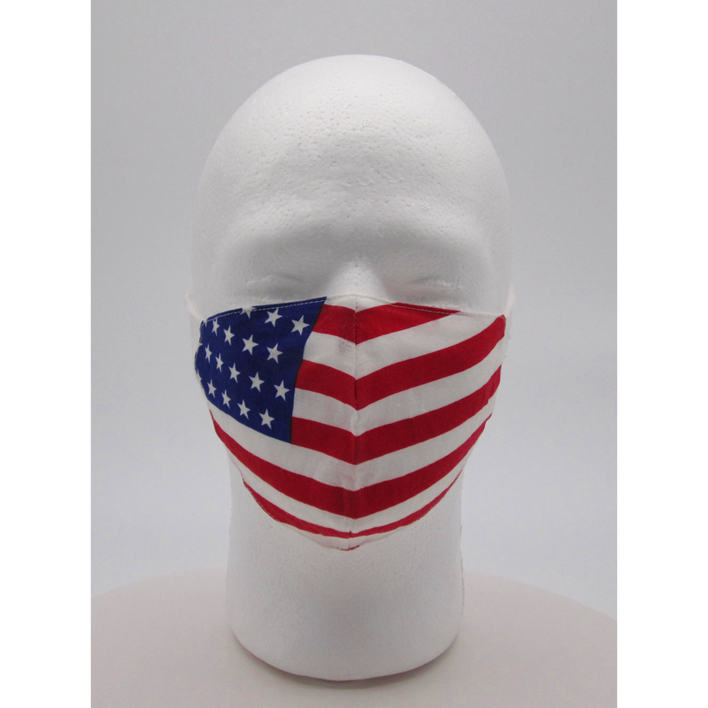 American Flag Face Mask w/ PM2.5 Filters - Bearified Gear