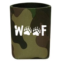 Woof Insulated Camouflage Koozie - Bearified Gear