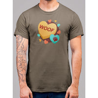 Woof Valentines Day Hear T-Shirt - Bearified Gear