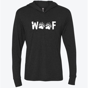 Woof Long Sleeve Hooded Shirt - Bearified Gear