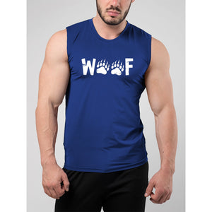 Woof Wording Muscle Tank Top - Bearified Gear