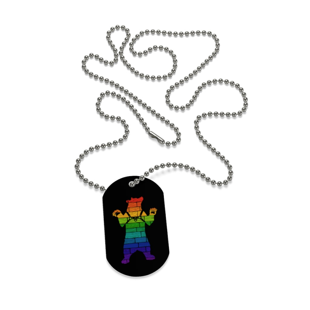 Rainbow Bear Pride Harness Dog Tag - Bearified Gear