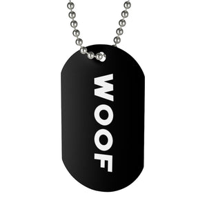 Woof Dog Tag - FREE Shipping - Bearified Gear