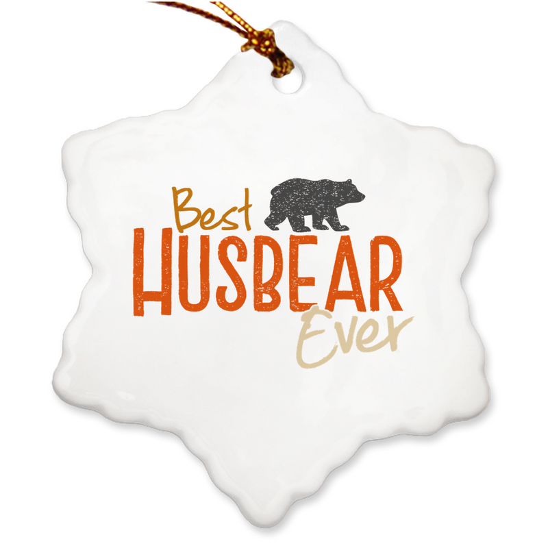 Best Husbear Ever Christmas Ornament - Bearified Gear