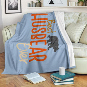 Best Husbear Ever Throw Blanket - Bearified Gear
