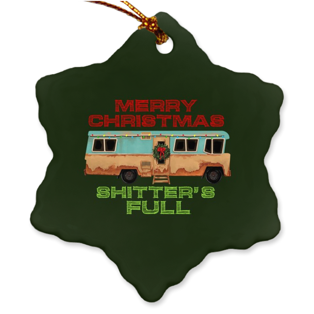 Merry Christmas Shitters Full Christmas Ornament - Bearified Gear